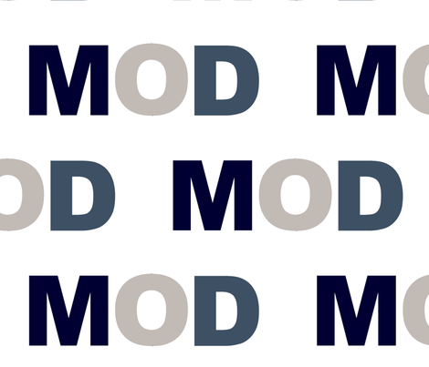MOD indigo fabric by paragonstudios on Spoonflower - custom fabric