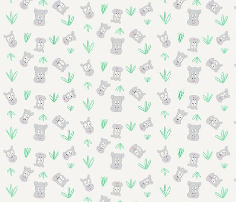 hippos fabric by staceyoverseas on Spoonflower - custom fabric