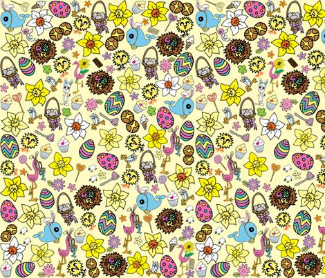 Yellow Easter Megamix fabric by walterandflo on Spoonflower - custom fabric