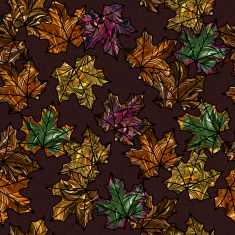 Autumn Leaves fabric by modernmarbling on Spoonflower - custom fabric