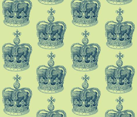 True Blue Crown  fabric by walkwithmagistudio on Spoonflower - custom fabric