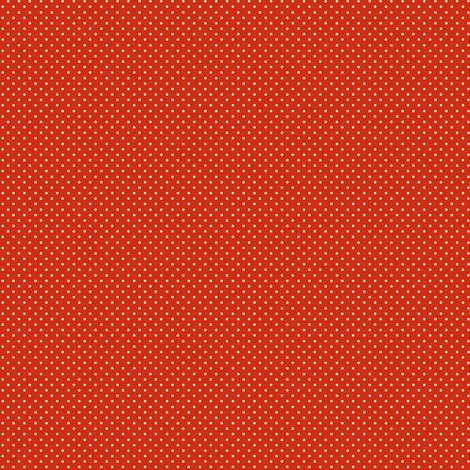 Apple-Red_and_Cream_Pin_Dots fabric by fireflower on Spoonflower - custom fabric