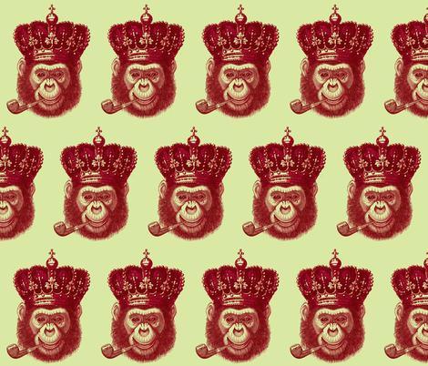 Monkey King fabric by walkwithmagistudio on Spoonflower - custom fabric