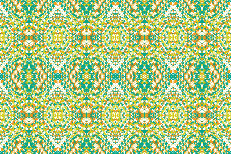 Green Daze-2 fabric by susaninparis on Spoonflower - custom fabric