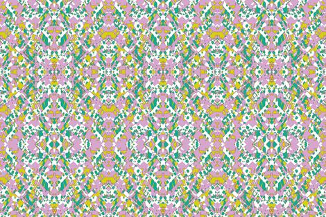 Sweet Peas Chintz fabric by susaninparis on Spoonflower - custom fabric