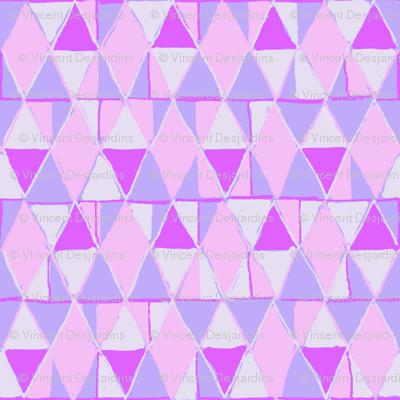 Pink Diamonds Magenta Triangles