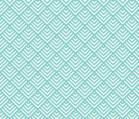 Teal shingles fabric by mezzime on Spoonflower - custom fabric