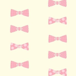 Bow tie collection pink