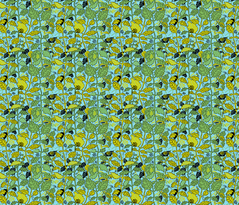Green and Yellow Hedgerow fabric by vinpauld on Spoonflower - custom fabric