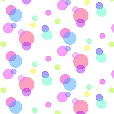 Happy Bubbles! -  © PinkSodaPop 4ComputerHeaven.com fabric by pinksodapop on Spoonflower - custom fabric