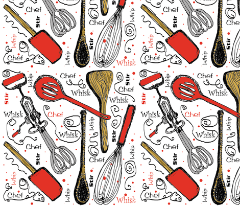 Kitchen Whimsy fabric by moxieart on Spoonflower - custom fabric