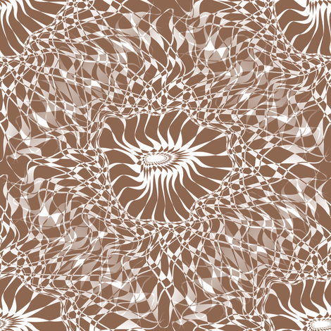Fractal Flower - Tan fabric by telden on Spoonflower - custom fabric