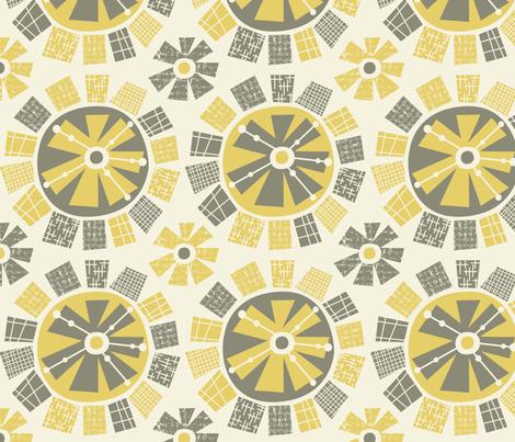 Mod Flower fabric by amel24 on Spoonflower - custom fabric