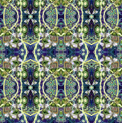 Electric Mating Dance of the Firefly (original colors) fabric by edsel2084 on Spoonflower - custom fabric