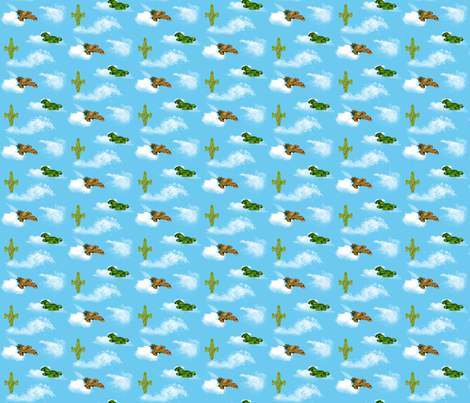 Leaf on the wind fabric by dnaworkshop on Spoonflower - custom fabric