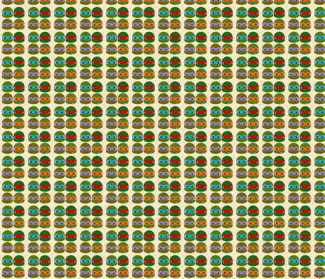 Cute Ninja Turtles fabric by nerdbaitplus3 on Spoonflower - custom fabric
