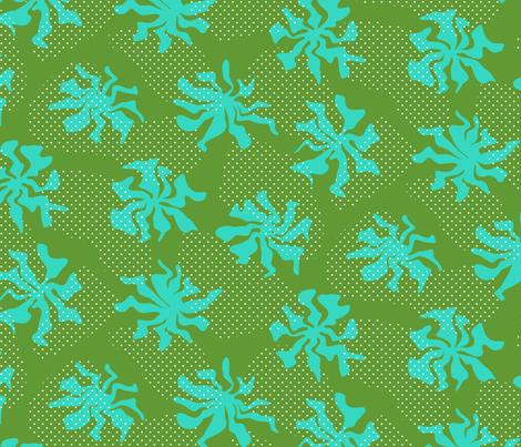 dot dance green fabric by darcibeth on Spoonflower - custom fabric