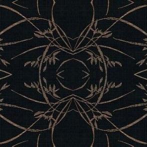 wild grasses - black and beige