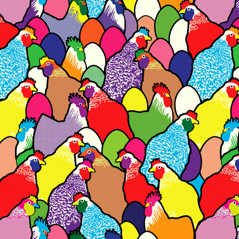 Pop feathers 2(smaller) fabric by lilola on Spoonflower - custom fabric