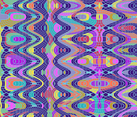 Blue Stripe Spirograph fabric by rubydoor on Spoonflower - custom fabric