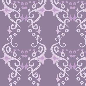 Purple Swirly and Dots