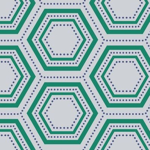 Dotted Hexagon - Green