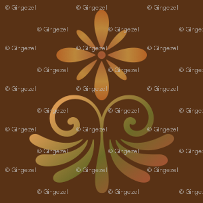 Brown Tones Country Style Floral © Gingezel™ 2013