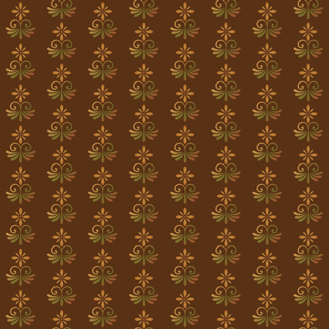 Brown Tones Country Style Floral © Gingezel™ 2013 fabric by gingezel on Spoonflower - custom fabric