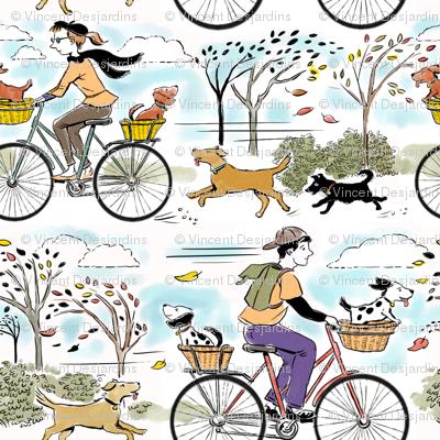 Retro Bikes and Dogs