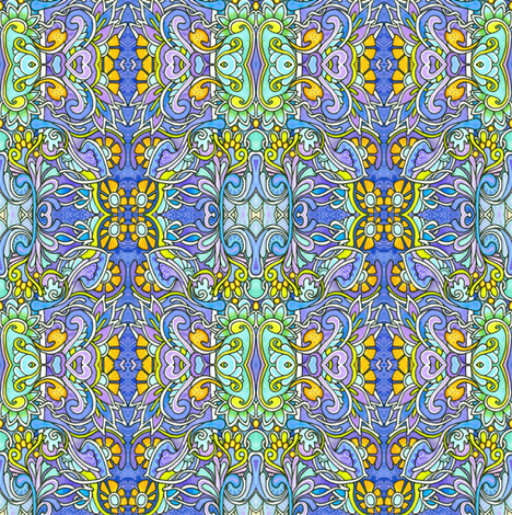 Pop Goes the Paisley Daisy fabric by edsel2084 on Spoonflower - custom fabric