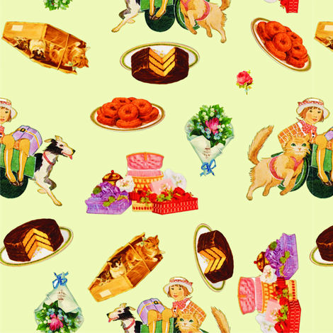 Birthday of a young lady fabric by pirophobia on Spoonflower - custom fabric