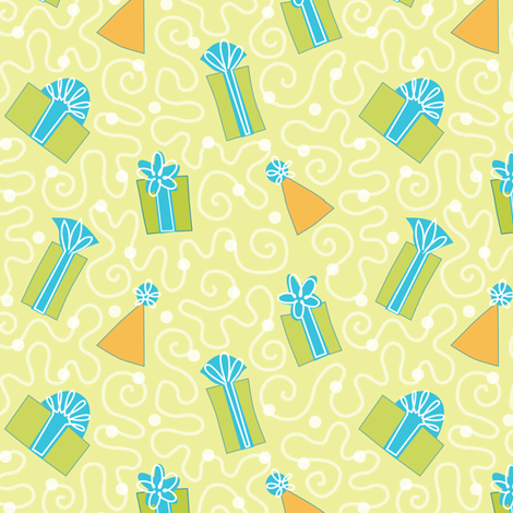 Birthday surprise fabric by lily_studio on Spoonflower - custom fabric