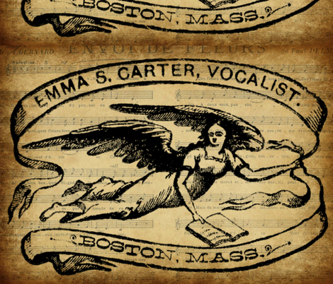 Emma Carter, Vocalist fabric by marchhare on Spoonflower - custom fabric