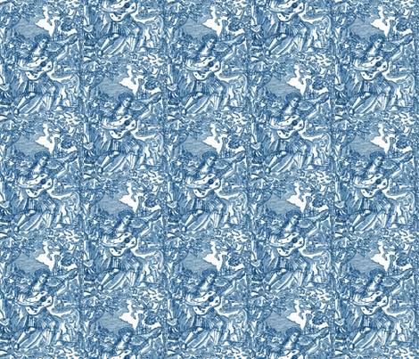 Blue Orpheus fabric by amyvail on Spoonflower - custom fabric