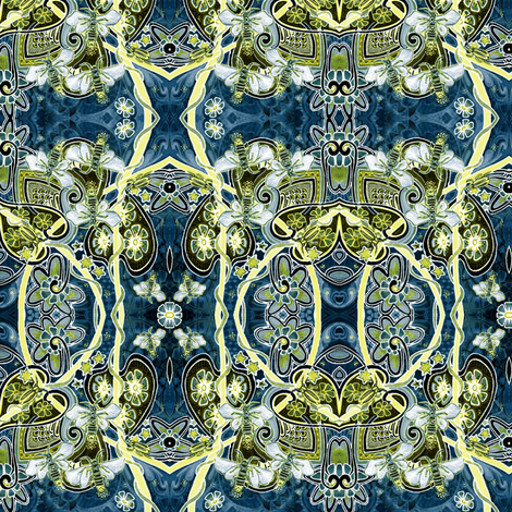 Electric Mating Dance of the Firefly (Synergy version) fabric by edsel2084 on Spoonflower - custom fabric