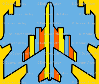Blue Sky covered with Airplanes