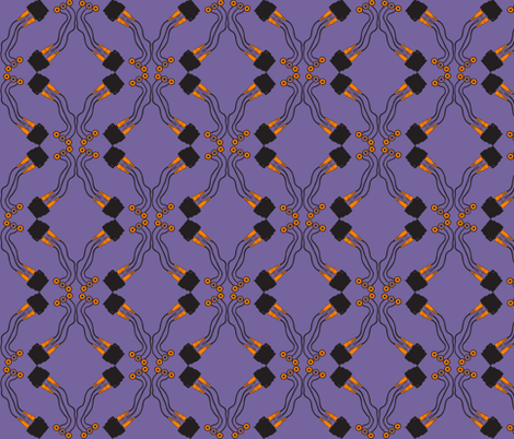 Cable tile purple fabric by susiprint on Spoonflower - custom fabric