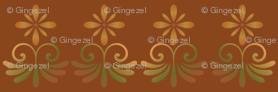 Orange Tones Country Style Floral © Gingezel™ 2013