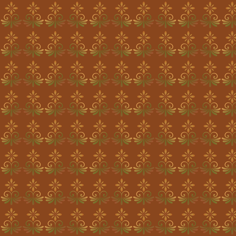 Orange Tones Country Style Floral © Gingezel™ 2013 fabric by gingezel on Spoonflower - custom fabric