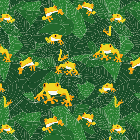 the-jungle-of-the-frogs fabric by valmo on Spoonflower - custom fabric