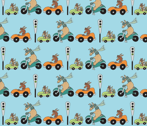 Go Llamas Go in Blue fabric by kbexquisites on Spoonflower - custom fabric