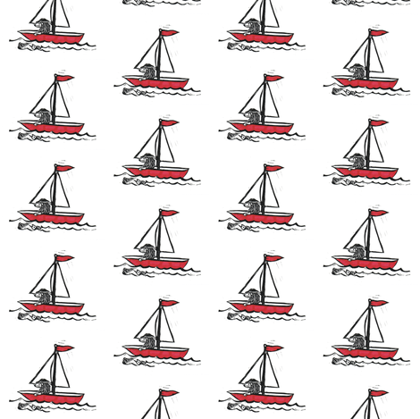 sailing fabric by fatcrowpress on Spoonflower - custom fabric