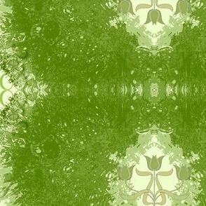 Abstract60-cream/green