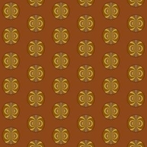 Gold and Brown Patterned Dot © Gingezel™ 2013