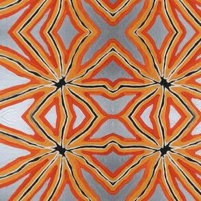 Orange Silver Star