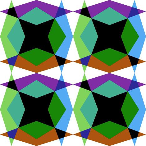 Kaleidoscope 2 fabric by volkstricken on Spoonflower - custom fabric