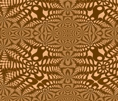 Brown Wigglies fabric by telden on Spoonflower - custom fabric