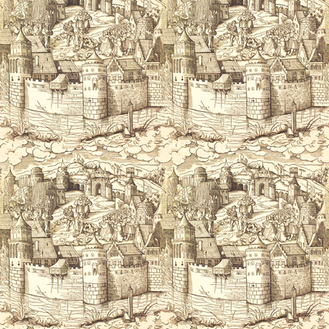 Medieval Justice - Small - Color fabric by telden on Spoonflower - custom fabric