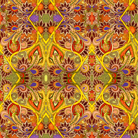 Days of Saffron Paisley fabric by edsel2084 on Spoonflower - custom fabric