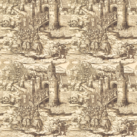 The Village Castle - Small fabric by telden on Spoonflower - custom fabric